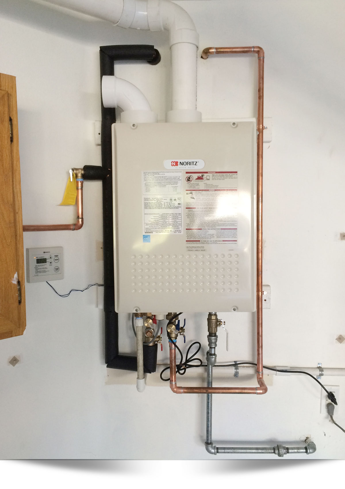 Norwitz Tankless Water Heater Residential Plumber Installation