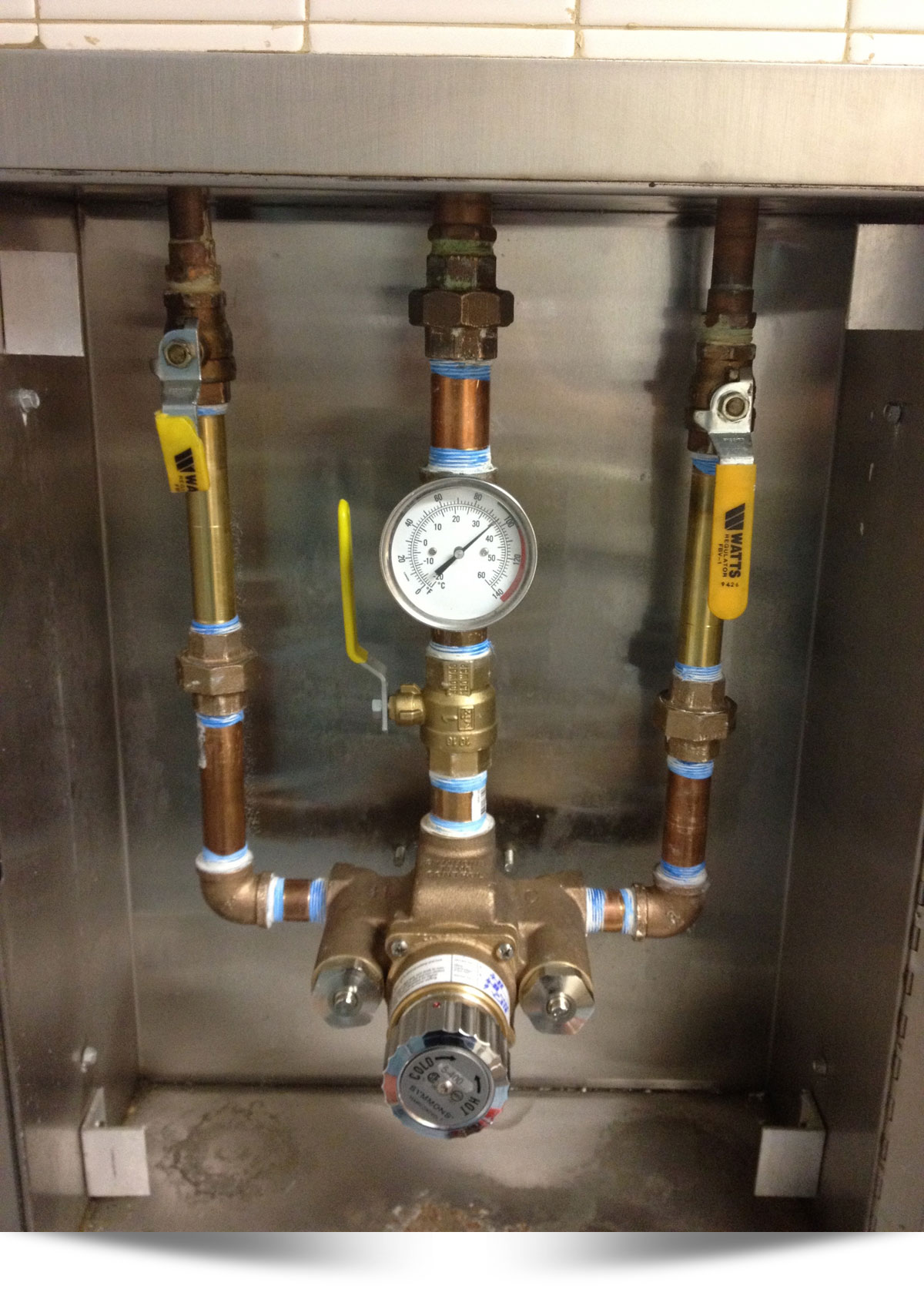 Thermostatic Valve Installation by Commercial Plumber from Eastlake Plumbing