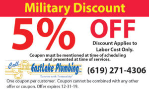 Coupon – 5% Off Military Discount Plumbing Coupon