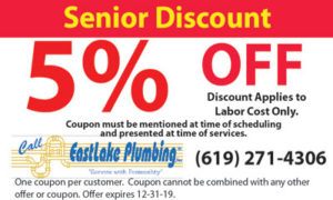 Coupon – 5% Off Senior Discount Plumbing Coupon