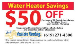 Coupon – $50 Off Water Heater Savings Plumbing Coupon