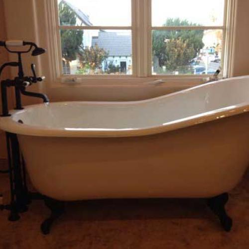 Bathroom Claw Tub Installation