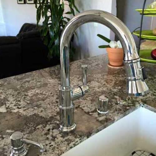 Kitchen Faucet Install