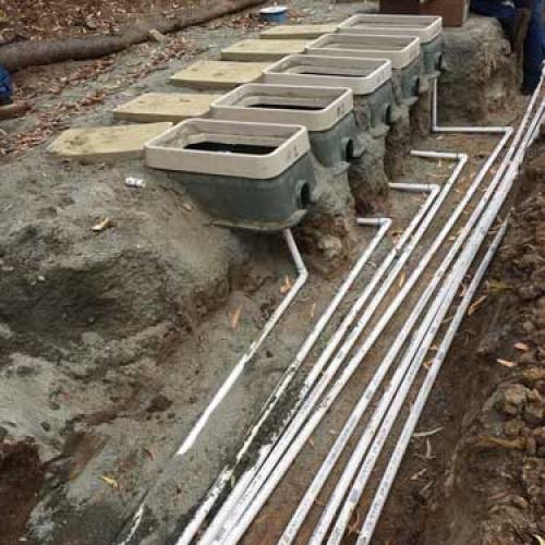 Mains to City Water Meters Being Installed