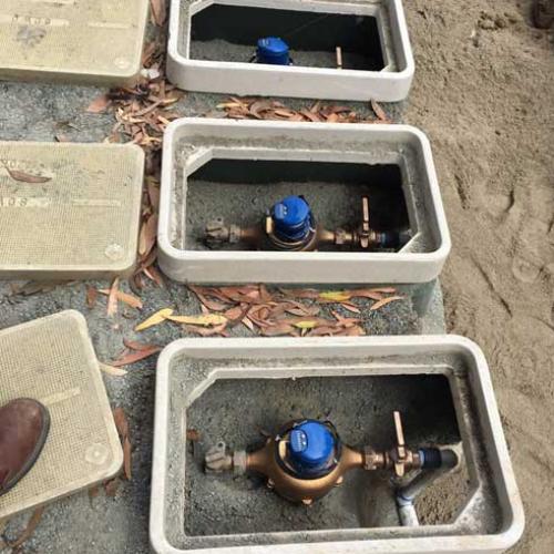 City Water Meters Being Installed